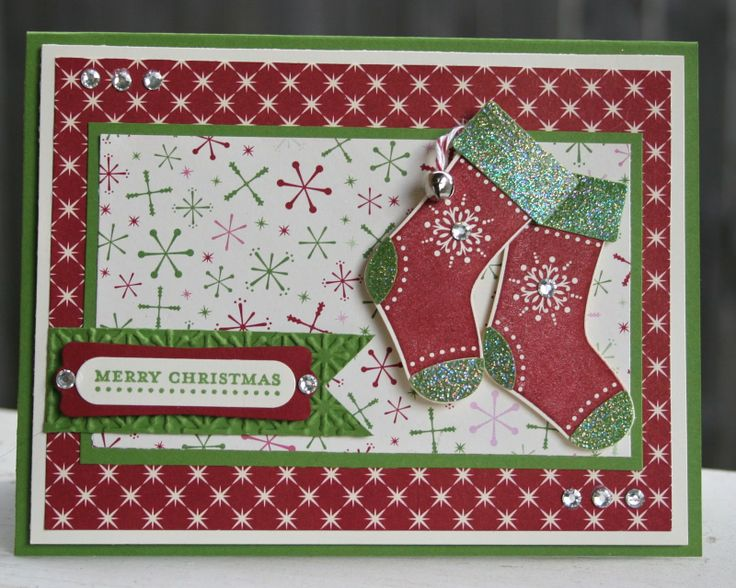 Stampin' Anne: Christmas in July for Paper Players # 102Christmas Cards, Cards Ideas, Challenges Christmas, Cards Christmas, Christmas Stockings, Paper Players, Challenges 102, Theme Challenges, Stockings Cards