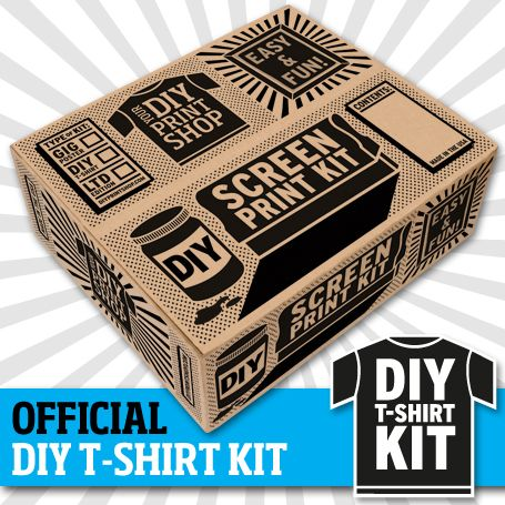 The DIY T-SHIRT KIT comes with all of the supplies--and they're environmentally safe--that you need to screen print t-shirts at home.