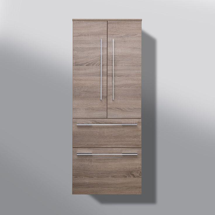 Bad Hochschrank Badmöbel Maße: H/B/T 150/60/32 Cm