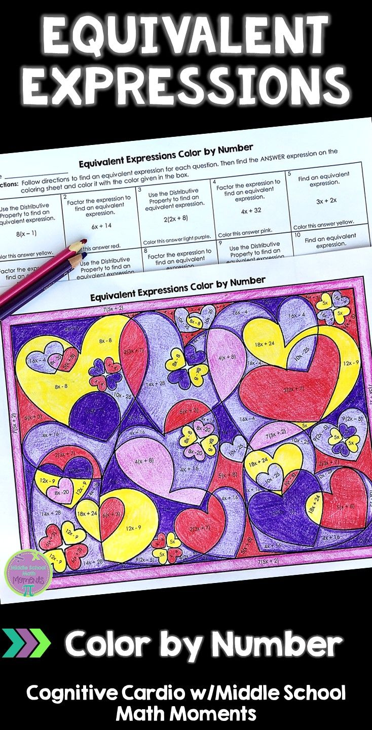 Looking For A Fun But Academic Valentine Activity For Math Class Try This Self Checking Equivalent Ex Math Expressions Math Challenge Equivalent Expressions [ 1440 x 734 Pixel ]