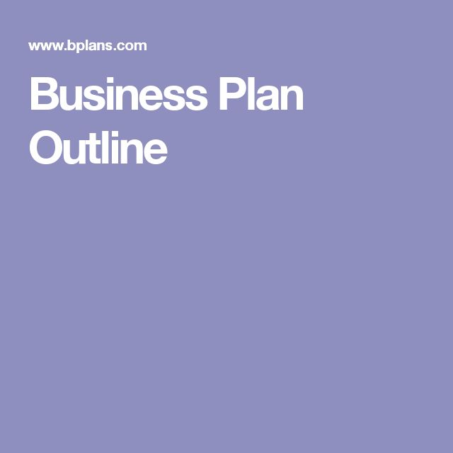 Best  Business Plan Outline Ideas On   Financial