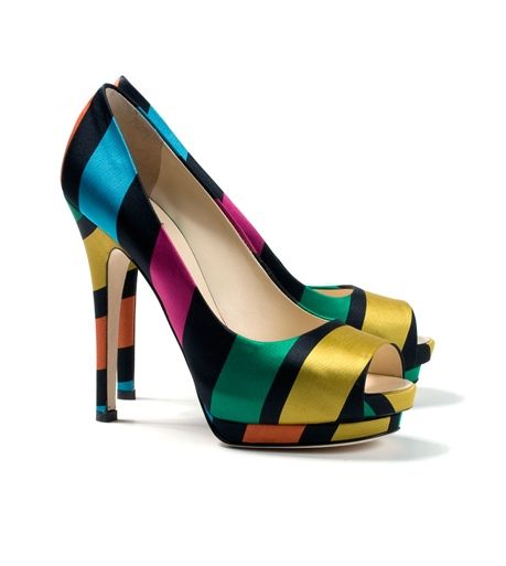 Giuseppe Zanotti multicolored striped pumps 2010