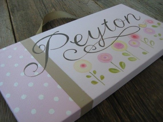I really like the colors and design on this name canvas