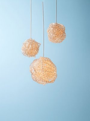 rope light chandelier by readymade: Diy Chandelier