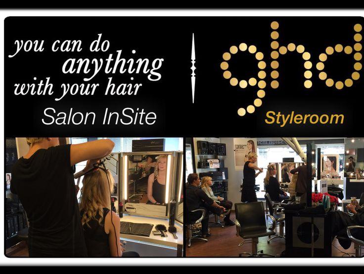 Vi takker Karina fra ghd, for en super skøn,hyggelig & meget lærerig dag...  Vores kunder er blevet forkælet, og har fået tips & tricks til hvordan håret kan glattes, krølles, have bølger & fald og meget meget mere ...  Vi glæder os til, snart at se dig igen til endnu flere ghd Styleroom events  Tak for en virkelig fed dag  www.saloninsite.dk  Team InSite