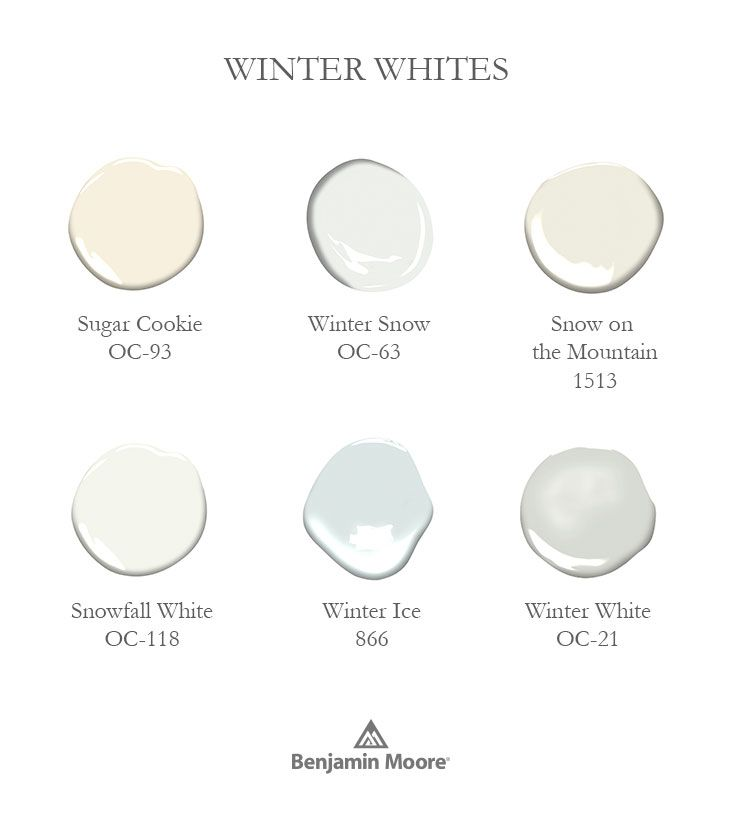 Find your favorite Winter White from our collection of over 3,500 paint colors.
