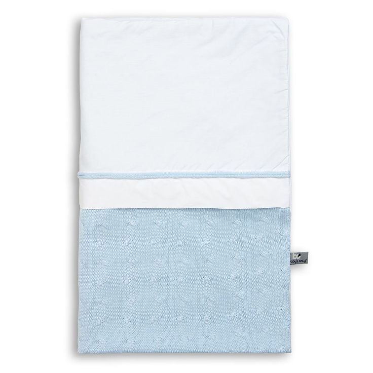 Cable Uni - Duvet cover 135x100 - baby blue  by Baby's Only -