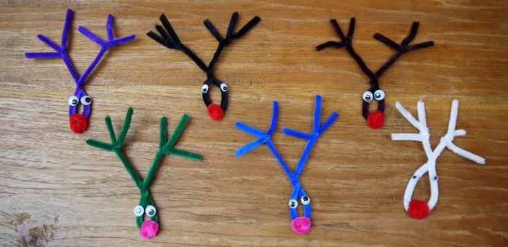 Für alle, die zu Weihnachten mit Kindern basteln wollen und es dabei einfach haben wollen: Diese süßen Rudolf Renntiere macht ihr schnell und mit wenig Material!