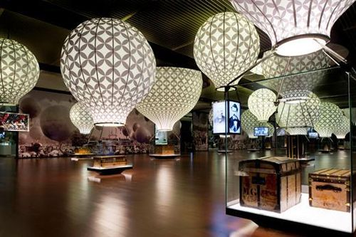 Louis Vuitton Voyages Exhibition, Natl Museum of China #air #baloon #light