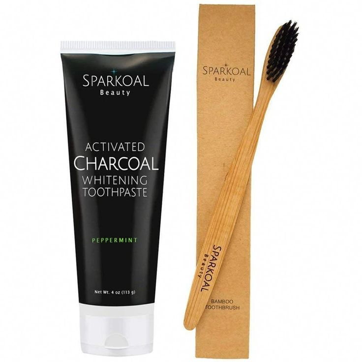 Activated Charcoal Toothpaste with Bonus Bamboo To…