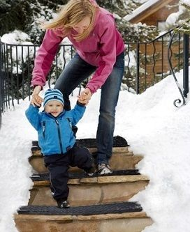Heated Snow Melting Stair Mat! No More digging yourself out of your house! This snow melting stair mat melts 2 inches of snow per hour for you! Purchase one from our store www.invented4you.com