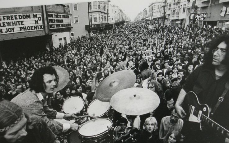 crowd san francisco grayscale drums music bands the grateful dead jerry garcia 1600x1200 wallpape Art HD Wallpaper