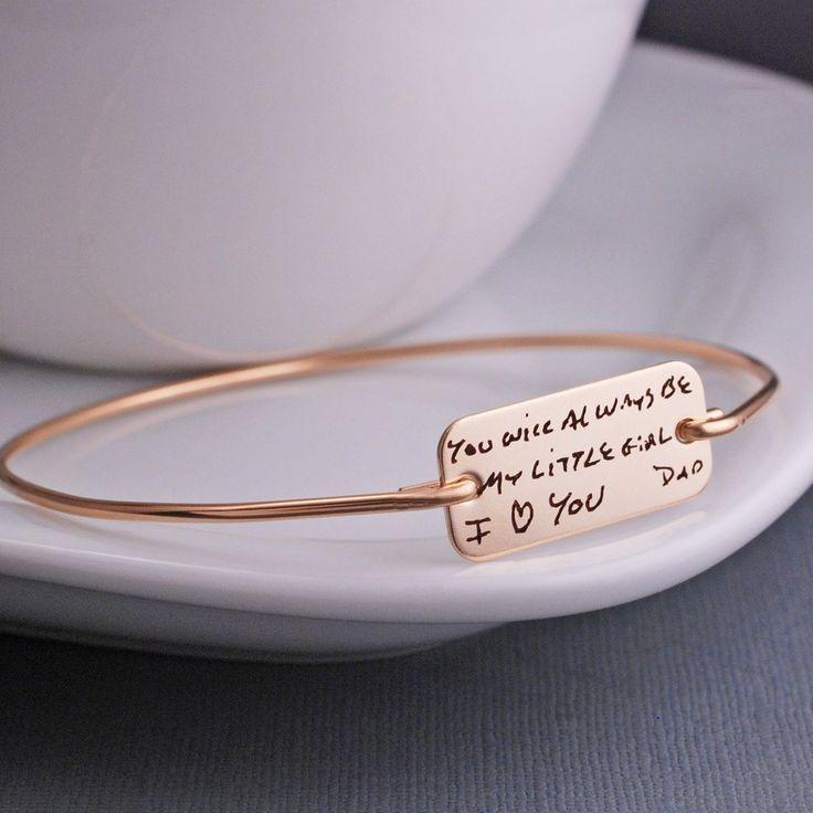 Custom Handwriting Bracelet Engraved Handwriting Jewelry – georgie designs personalized jewelry