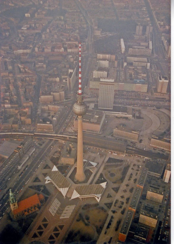 Berlin from above, Germany, 1991, photograph by Boris.