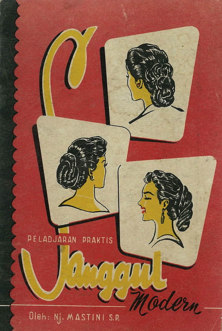 Vintage Indonesian book on hairstyle.