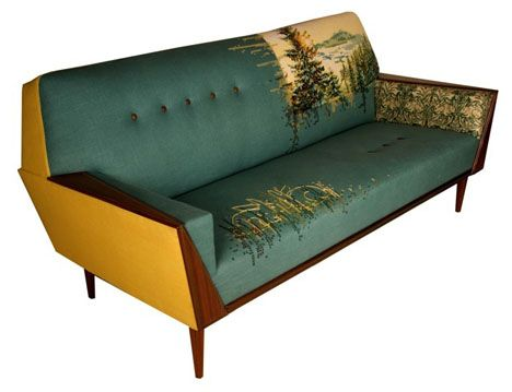 modern african furniture. casamento south africa vintage mid century sofa reupholstered with recycled textiles modern african furniture