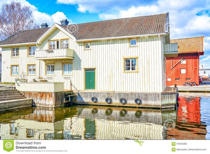 White Wooden Buildings Of Norwegian Village Museums - Download From Over 59 Million High Quality Stock Photos, Images, Vectors. Sign up for FREE today. Image: 91645385
