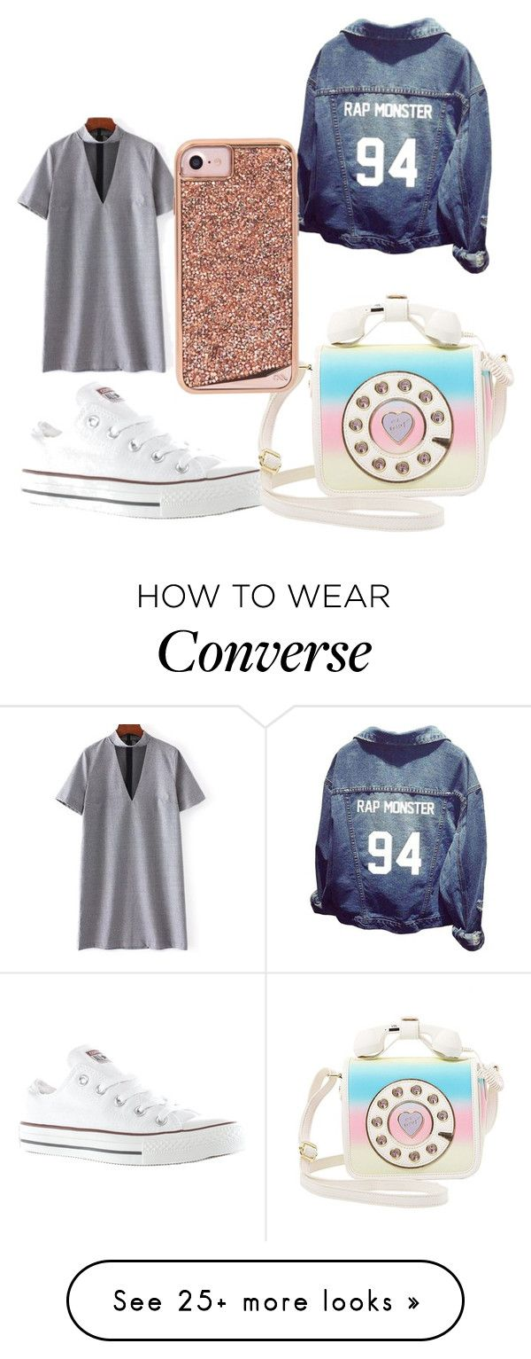 """Untitled #288"" by lordgigi on Polyvore featuring Converse, Betsey Johnson and Case-Mate"