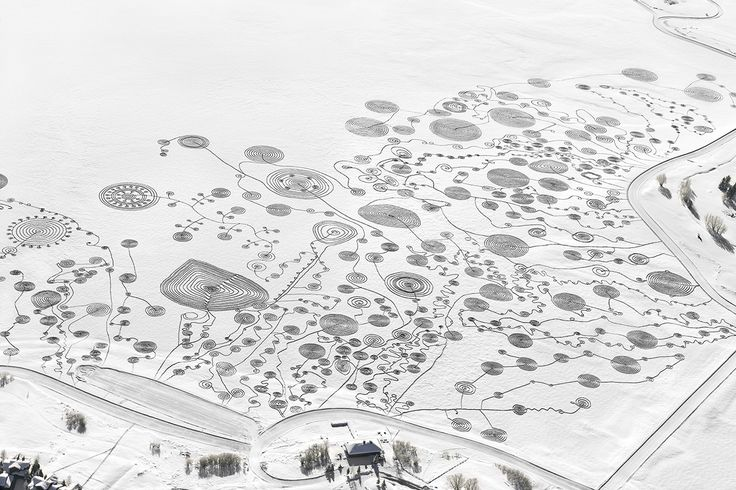Sonja Hinrichsen - Snow Drawings at Catamount Lake (1-3 Feb. 2013)