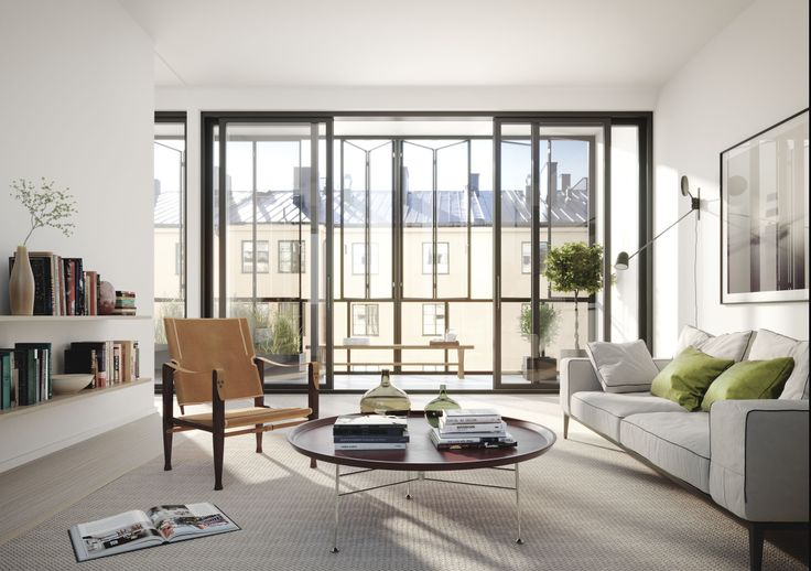 Oscar Properties : Chokladfabriken #oscarproperties livingroom, windows, sofa, window