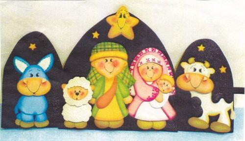 Pesebre en foami moldes imagui cositas lindas for Manualidades souvenirs navidenos
