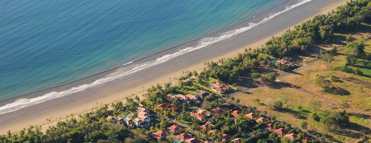 Los Delfines public beach access and beach homes. Playa Tambor, Costa Rica