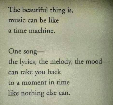 The beautiful thing about music is getting lost in a song