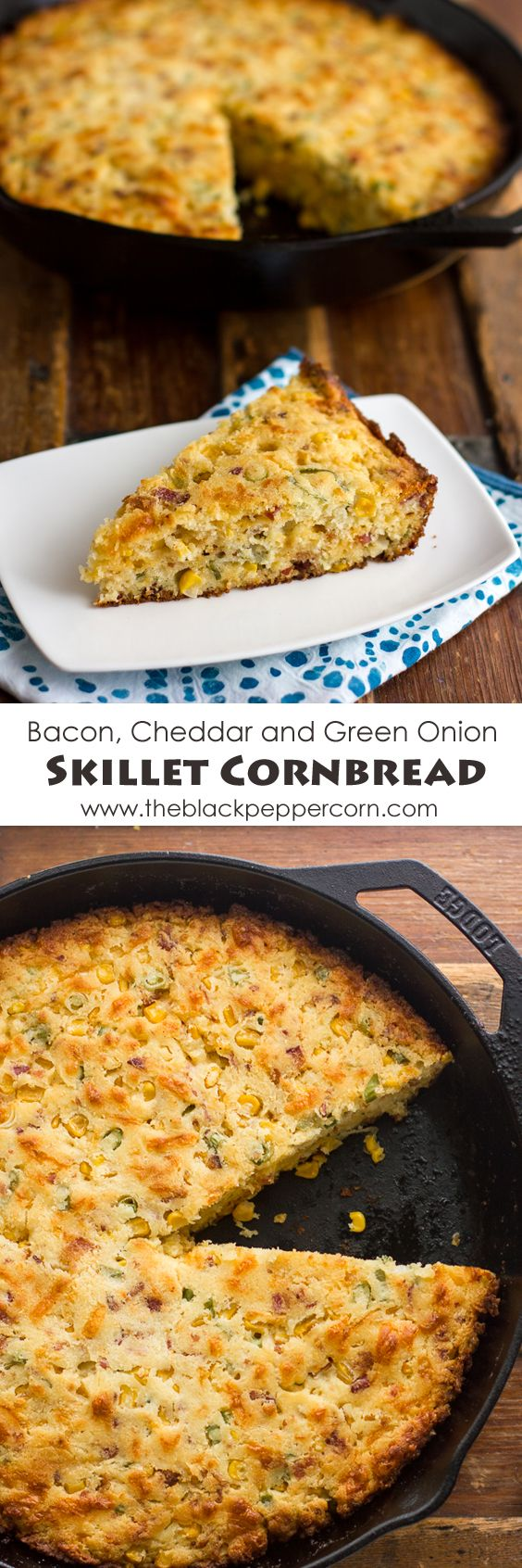 Skillet+Cornbread+with+Bacon+Cheddar+and+Green+Onions