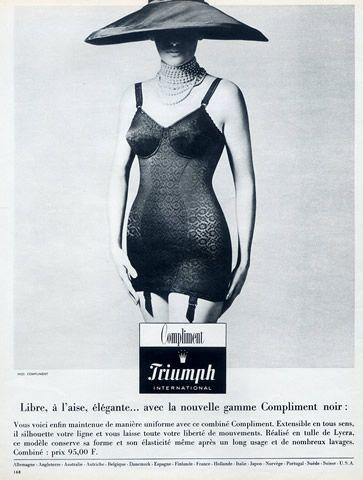 Triumph Bra Usa >> Triumph (Lingerie) 1965 Girdle | Vintage Foundations Ads | Pinterest | Girdles and Lingerie