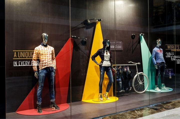 Чёрные стены в дизайне и оформлении витрин магазинов