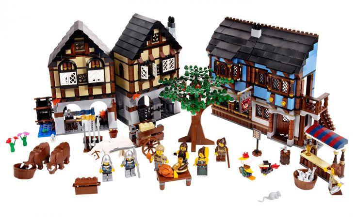 LEGO Middeleeuwse Dorpsmarkt 10193  Misschien wel de allermooiste set uit de Castle serie! Met meer dan 1500 LEGO blokjes en 8 minifiguren heb je gelijk een middeleeuws dorp voor bij je LEGO Kasteel.  De Leukste LEGO bestel je online bij https://www.olgo.nl