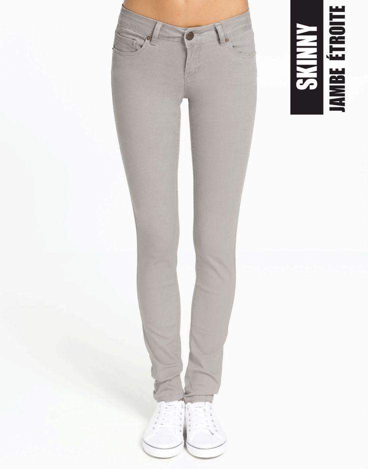 Go grey for a great alternative to blue jeans! #skinnyjeans #ardenedenim