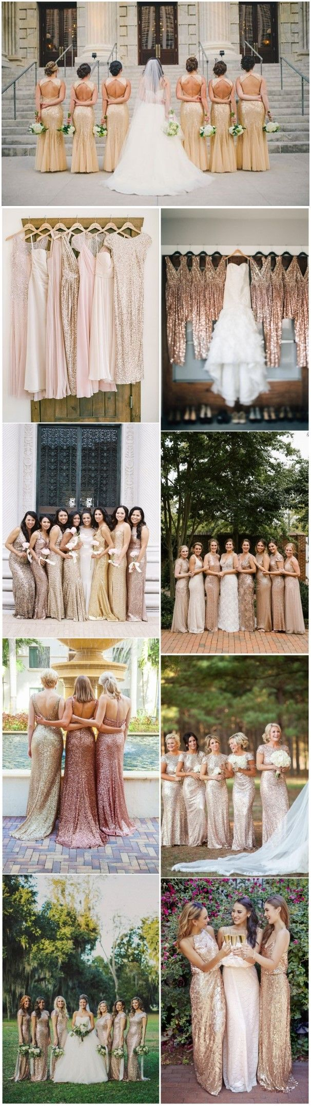 Bridesmaid Dresses » 22 Glamorous Golden Bridesmaid Dresses Ideas You Can't Miss! »   ❤️ See more:  http://www.weddinginclude.com/2017/04/glamorous-gold-bridesmaid-dresses-ideas-you-cant-miss/