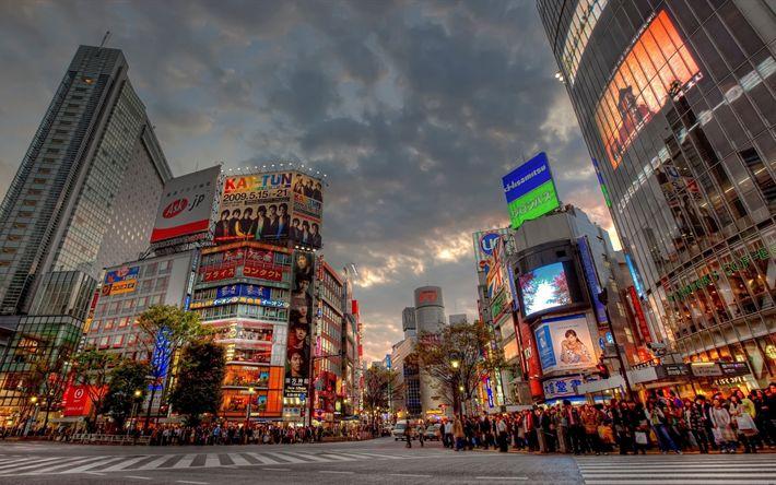 Lataa kuva 4k, Tokio, street, kaupunkimaisemat, HDR, Aasiassa, Japani