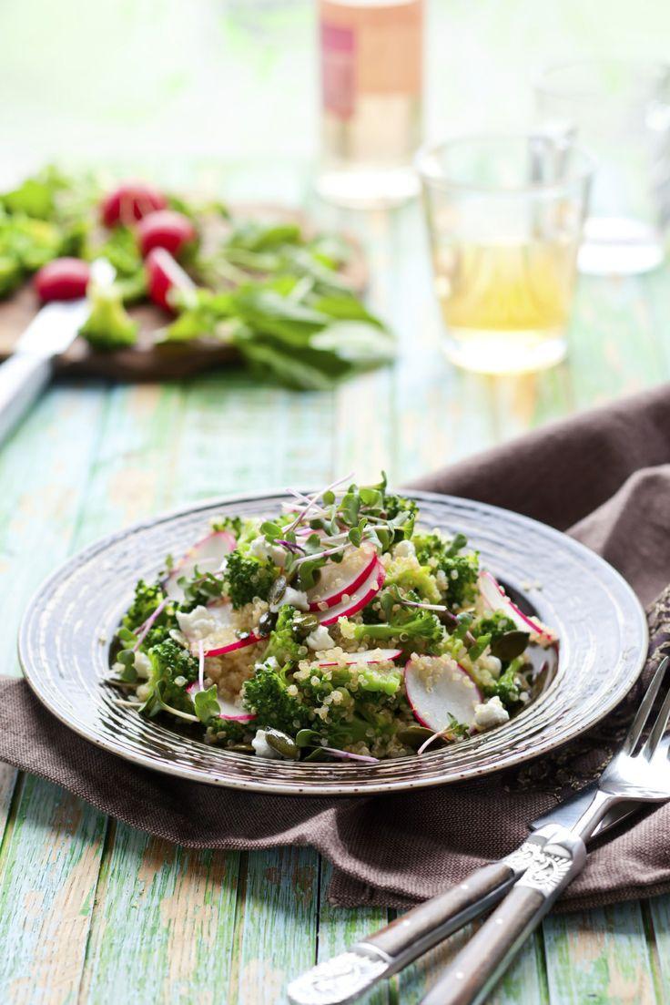Creamy Quinoa Broccoli Salad