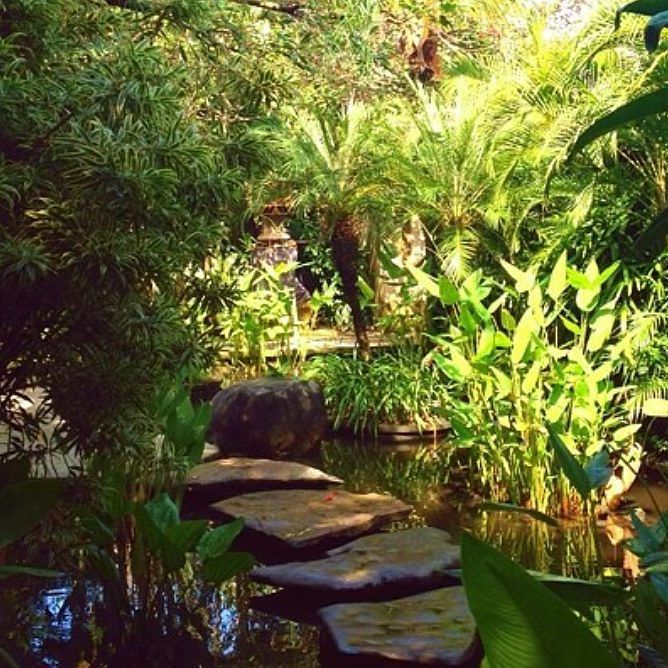 Pond steps at Dea Villas Bali Tropical water plants and Java flat stone stepping. By Bali Landscape Company  http://ift.tt/1QzTwns  Repost  @deavillas.bali  #bestvilla #privatevilla #canggu #berawa #pond #watergarden #stepping #balilandscapecompany #bestinbali #bali #balilandscaper  #landscape #landscapeconstruction #landscapecontractor #gardendesignmag #gardenideas #FineGardening #landscape_review #landscapearchitecture #landscapearchitect #garden #gardenideas #gardeninspiration #gardenlove…