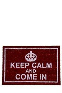 KEEP CALM AND COME IN 40X60CM DOORMAT