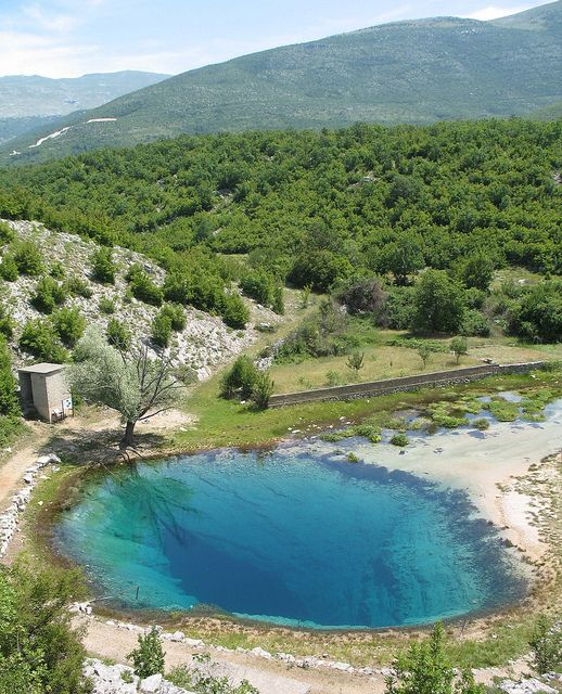 Here the Cetina river comes above ground. Cetina, Croatia.