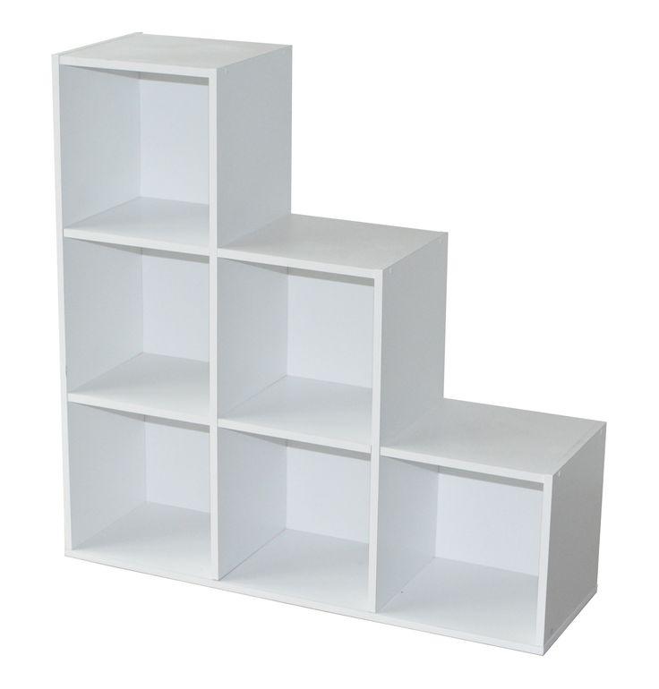 L'étagère escalier contemporaine Module est composée de 6 casiers. Ultra fonctionnelle et peu encombrante, elle vous offrira un espace de rangement appréciable.