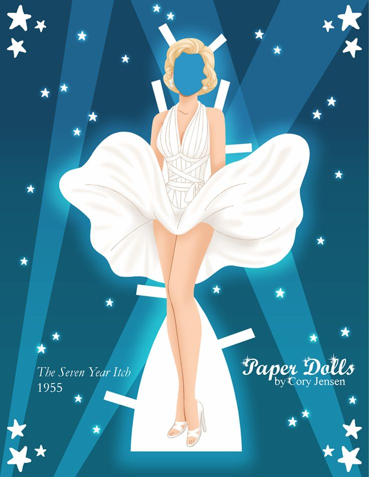 Marilyn Monroe Paper Dolls by Cory 2