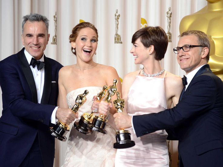D. Day-Lewis, Jennifer Lawrence, Anne Hathaway, Cristoph Waltz. A success! Grand night.