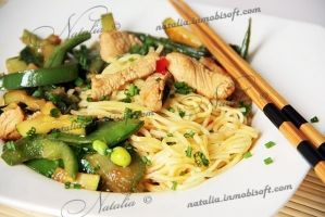 Stir-fry turkey with green beans