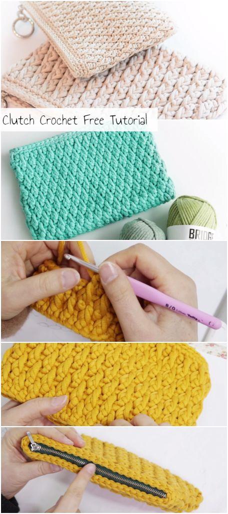 Clutch Crochet Free Tutorial – Crochetopedia