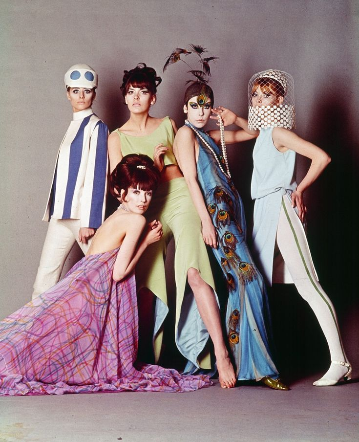 Pierre Cardin and Courrèges designs in with Blow-Up (1966). Additional costumes by Jocelyn Rickards.