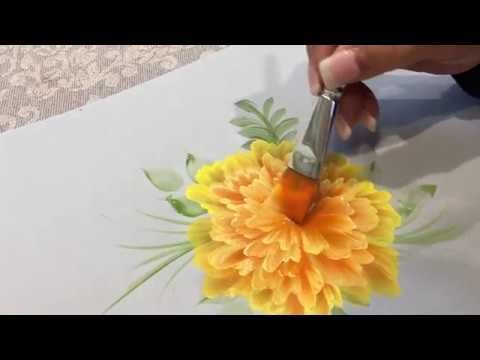 How to Paint Marigolds - YouTube