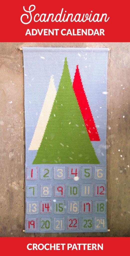 Scandinavian Advent Calendar - free crochet pattern -- An advent