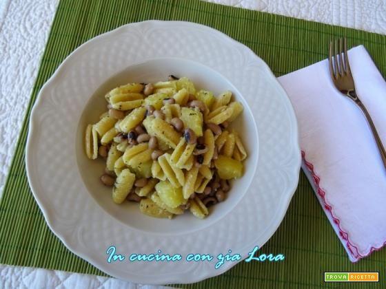 Gnocchetti sardi con fagioli dall'occhio  #ricette #food #recipes