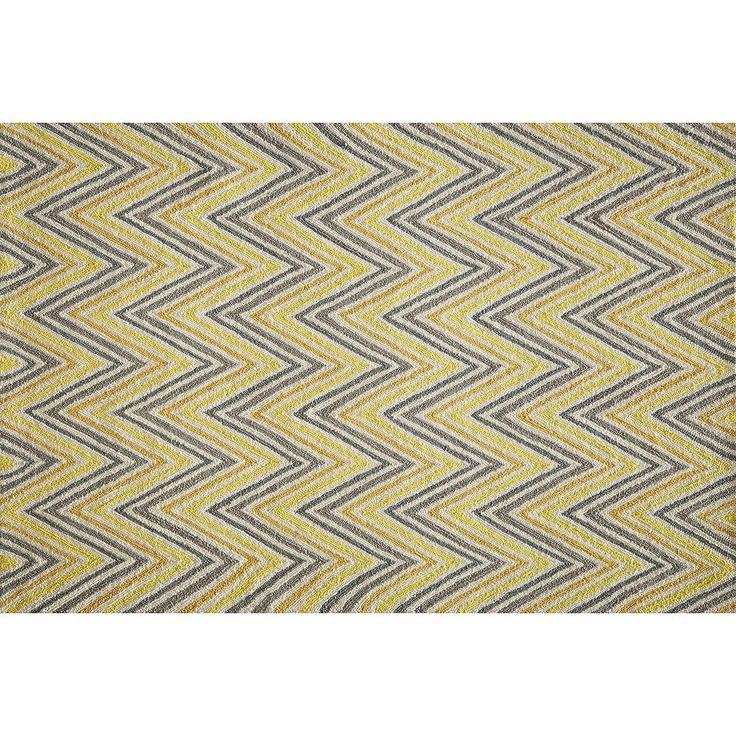 Momeni Geo Chevron Rug, Brt Yellow