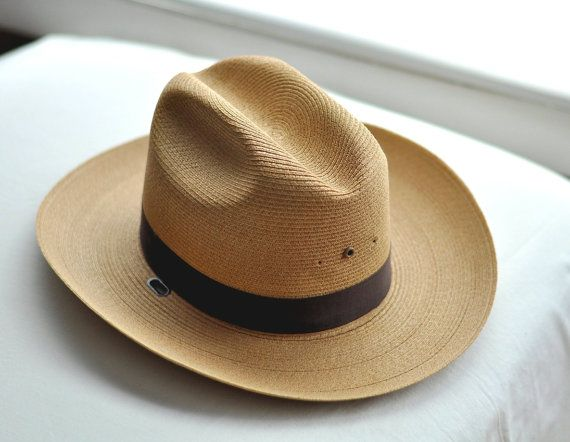 Vintage Mens Hat Panama Golden Straw Made In USA By Stratton Homespunsociety via Etsy