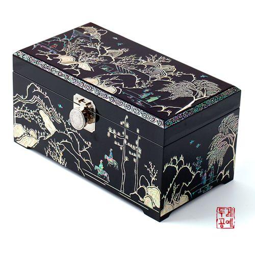 한국전통공예품의 감동 두레아트 매화초옥도 보석함